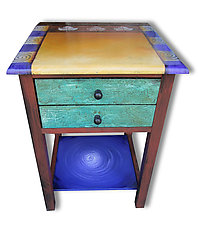 Maple Candy End Table by Wendy Grossman (Wood Side Table)