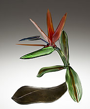 Bird of Paradise by Loy Allen (Art Glass Sculpture)