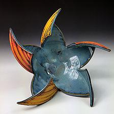 Altered Pinwheel Bowl by Thomas Harris (Ceramic Sculpture)