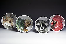 Woodland Animals Bowl by Eileen de Rosas (Ceramic Bowl)