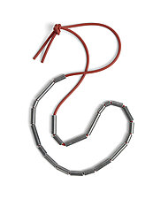 Steel Tubing Bead Necklace by Maia Leppo (Steel and Rubber Necklace)