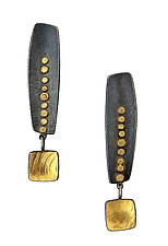 Long Inca Earrings by Sydney Lynch (Gold & Silver Earrings)