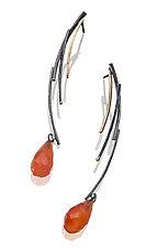 Long Driftwood Earrings by Sydney Lynch (Gold, Silver & Stone Earrings)