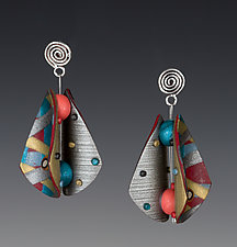 Wings Teardrop Earrings by Arden Bardol (Polymer Clay Earrings)
