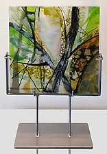 Verdant Transparencies by Alice Benvie Gebhart (Art Glass Sculpture)