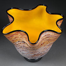 Litni Vyshni Malenki (Summer Cherries Small) by Eric Bladholm (Art Glass Bowl)