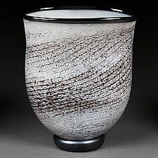 International Ivory II by Eric Bladholm (Art Glass Vase)
