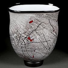Zimska Jabuka Mali (Winter Apples Small) Vase by Eric Bladholm (Art Glass Vase)