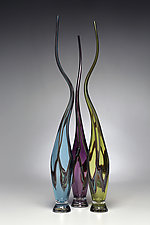 Swans Set VII by Victor Chiarizia (Art Glass Sculpture)