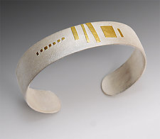 Rising Sun by Lisa Ceccorulli (Silver & Gold Cuff)