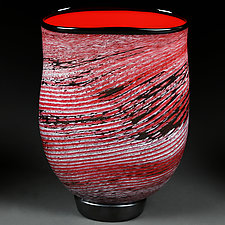 Scarlet Swirl by Eric Bladholm (Art Glass Vessel)