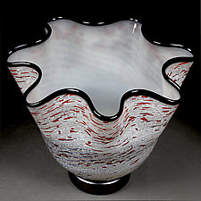 Vyshni Viter (Cherries in the Wind) by Eric Bladholm (Art Glass Bowl)
