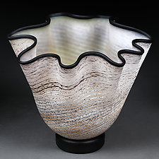 Appetizing Apricot by Eric Bladholm (Art Glass Vessel)