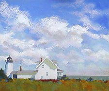 High Clouds, Pemaquid by Suzanne Siegel (Pigment Print)