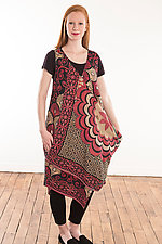 Kantha Pocket Drape Dress #6 by Mieko Mintz (Size M (4-10), One of a Kind)