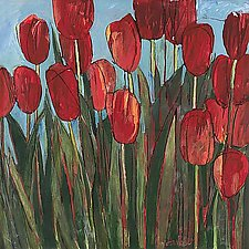 Red Tulips by Sarah Samuelson (Giclee Print)
