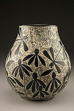 Dragonflies and Coneflowers by Jennifer  Falter (Ceramic Vase)