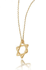Star of David Doodle Pendant by Dana Melnick (Gold Pendant)