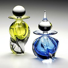 Tri Twist Perfume Bottles by Michael Trimpol and Monique LaJeunesse (Art Glass Perfume Bottle)