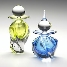 Tri Twist Perfume Bottles by Michael Trimpol and Monique LaJeunesse (Art Glass Perfume Bottle)