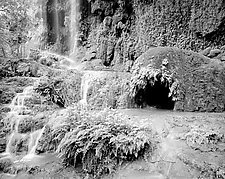 Gorman Falls by Paul Shatz (Black & White Photograph)