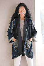 Serpent Ombre A-Line Jacket by Mieko Mintz (Silk and Cotton Jacket)
