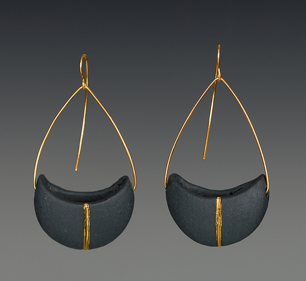 Crescent Pendant Earrings