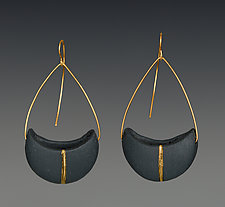 Crescent Pendant Earrings by Syra Gomez (Ceramic Earrings)