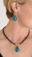 London Blue Quartz Necklace & Earrings by Judy Bliss (Gold & Stone Jewelry)