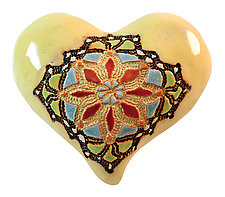 Miss Mosaic in Yellow by Laurie Pollpeter Eskenazi (Ceramic Wall Sculpture)
