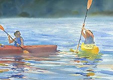 Learning to Paddle by Suzanne Siegel (Pigment Print)