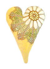 Something Old by Laurie Pollpeter Eskenazi (Ceramic Wall Sculpture)