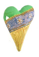Something New by Laurie Pollpeter Eskenazi (Ceramic Wall Sculpture)