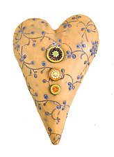 Something Borrowed in Blue by Laurie Pollpeter Eskenazi (Ceramic Wall Sculpture)