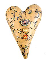Something Borrowed in Green by Laurie Pollpeter Eskenazi (Ceramic Wall Sculpture)
