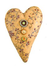Something Borrowed in Red by Laurie Pollpeter Eskenazi (Ceramic Wall Sculpture)