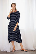 Striped Kati Dress by Comfy USA  (Knit Dress)