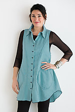Morgan Vest by Cynthia Ashby (Linen Vest)