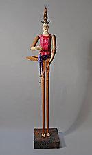 Dreamer's Santo by Elizabeth Frank (Wood Sculpture)