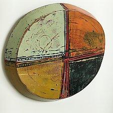 Layered Disc #22 by Barbara Gilhooly (Mixed-Media Wall Sculpture)