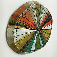Layered Disc #18 by Barbara Gilhooly (Mixed-Media Wall Sculpture)