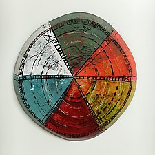 Layered Disc #16 by Barbara Gilhooly (Mixed-Media Wall Sculpture)