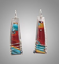 Mila by Sue Savage (Silver & Polymer Earrings)