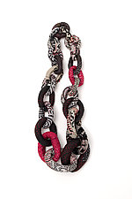 Silk Kantha Donut Necklace by Mieko Mintz  (Silk Necklace)