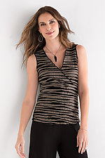 Fiore Sleeveless Surplice Top by Carol Turner  (Knit Top)