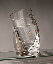 Ripples Fish Pond or Vase by Ken Girardini and Julie Girardini (Metal Vase)