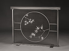 Maple Leaf Fireplace Screen by Ken Girardini and Julie Girardini (Metal Fireplace Screen)