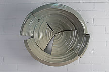 Broken Bowl by Jared Jaffe (Ceramic Wall Sculpture)