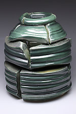 Oribe Crackpot by Jared Jaffe (Ceramic Sculpture)