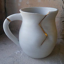 Mug with Gold by Jared Jaffe (Ceramic Mug)